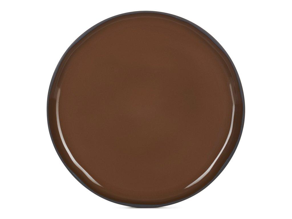 Jedálenský tanier hnedý Tonka CARACTERE REVOL
