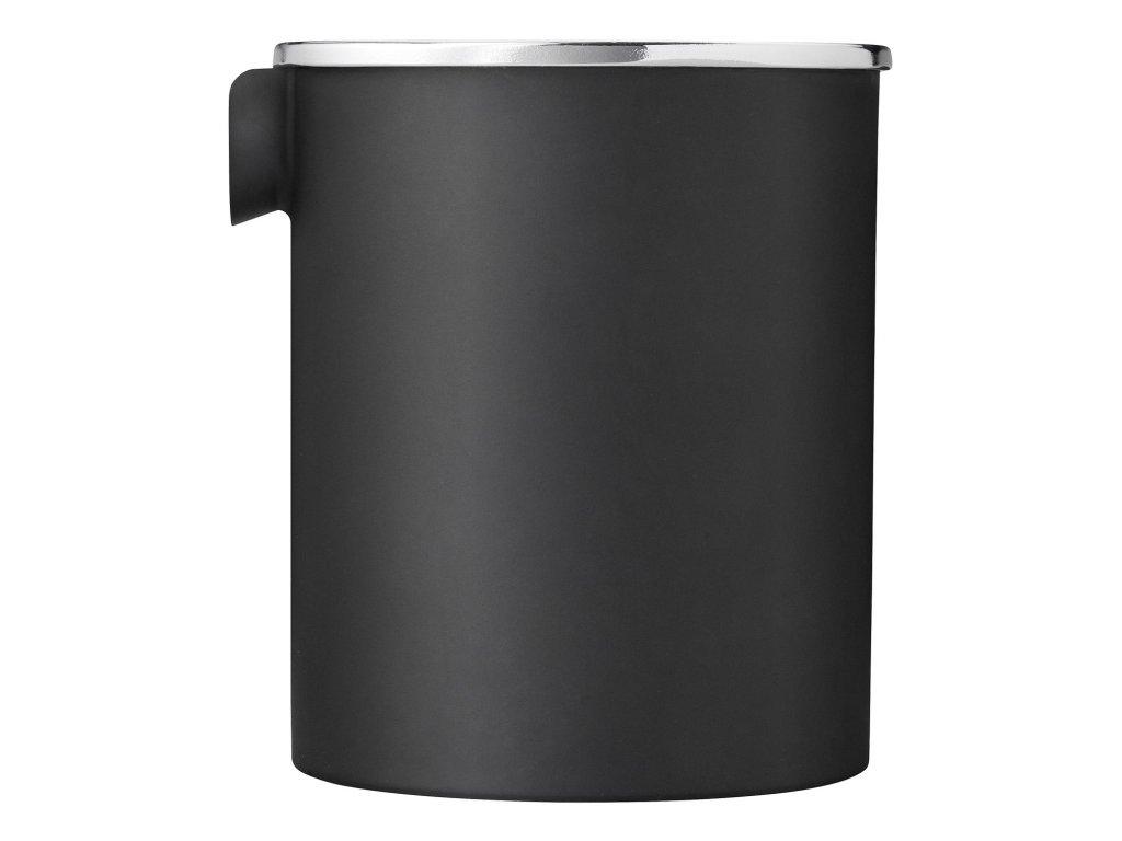 Kanvička na mlieko 0,25 l soft black/mirror classic Stelton