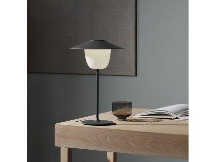 Mobilná LED lampa ANI LAMP tmavosivá Blomus