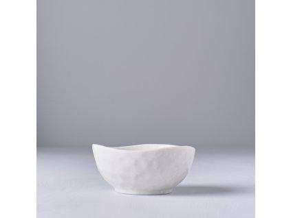 Nepravidelná miska na omáčku Off White 9 cm