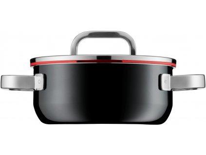 Nízký hrniec s pokrievkou Fusiontec Functional WMF 20 cm čierna