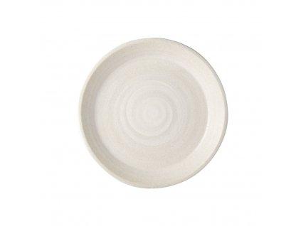 Plytký tanier s vysokým okrajom Recycled White Sand 27,5 cm