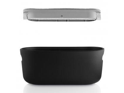 Samozavlažovací keramický kvetináč čierny Eva Solo