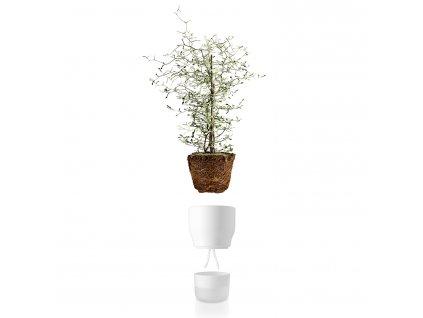 Samozavlažovací keramický kvetináč kriedovo biely O 13 cm Eva Solo