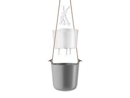 Samozavlažovací závesný kvetináč O 15 cm nordic grey Eva Solo