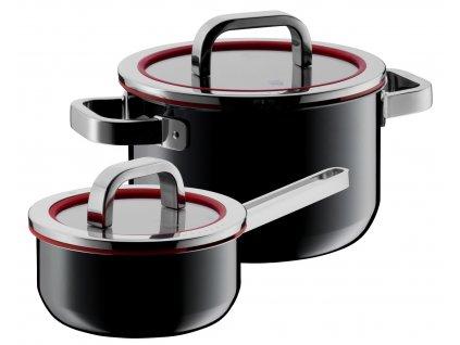Set hrncov s pokrievkami Fusiontec Functional WMF 2 ks čierna
