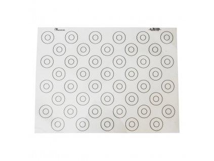 Silikónová podložka na makrónky so značkami 40 x 30 cm de Buyer