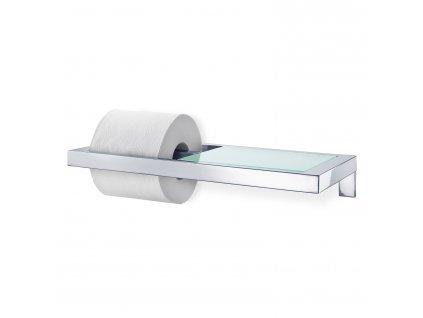 Držiak na toaletný papier leštená nehrdzavejúca oceľ / sklo MENOTO Blomus