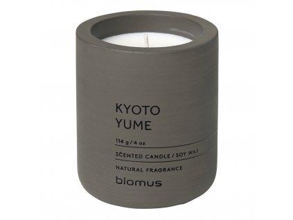 Vonná sviečka zo sójového vosku FRAGA tmavohnedá O 6,5 cm Blomus