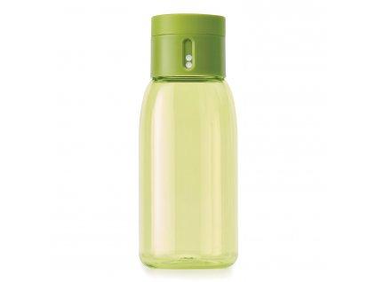 Fľaša na kontrolu pitného režimu malá zelená Dot Joseph Joseph