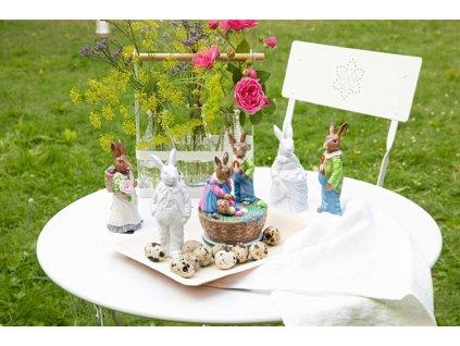 Porcelánový králik s vajíčkami Rabbit Collection Rosenthal 14 cm
