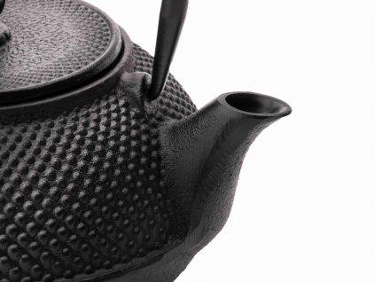 Liatinová kanvica na čaj Xilin Bredemeijer čierna 800 ml