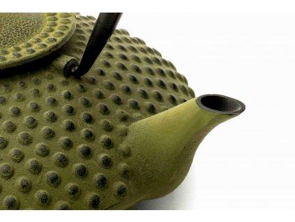 Liatinová kanvica na čaj Xilin Bredemeijer zelená 1,2 l