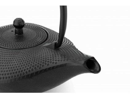Liatinová kanvica na čaj Aladin Bredemeijer čierna 1 l