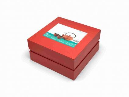 Čajový set Shanghai Bredemeijer červený 600 ml