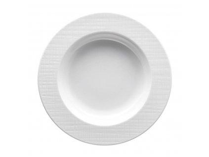 Hlboký tanier Mesh Rosenthal biely 23 cm