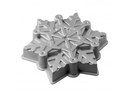 Forma na koláč Frozen Snowflake Bundt® strieborná Nordic Ware