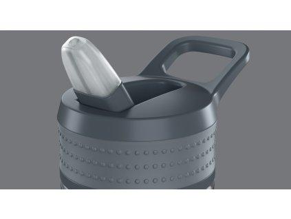 Fľaška EEN Boddels svetlošedá/tmavošedá 600 ml