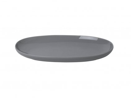Servírovací oválny tanier RO Blomus malý šedý