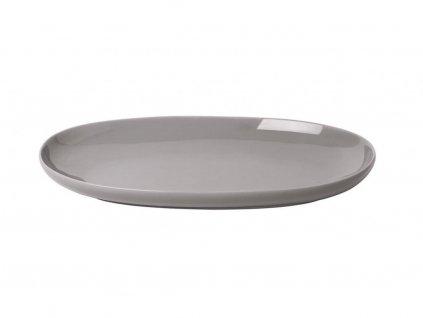 Servírovací oválny tanier RO Blomus malý hrejivo šedý