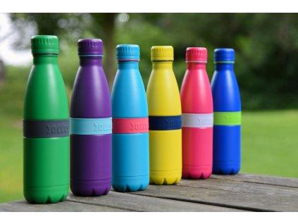 Fľaška TWEE+ Boddels ružová/levanduľová 500 ml