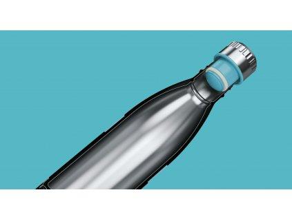 Fľaška TWEE Boddels tyrkysová 800 ml