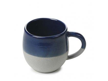 Hrnček s uškom No.W Revol modrý glazovaný 330 ml