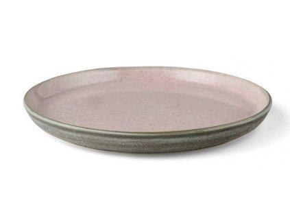 Servírovací tanier Bitz šedý/ružový 21 cm