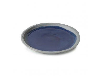 Plytký tanier No.W Revol modrý glazovaný 21 cm