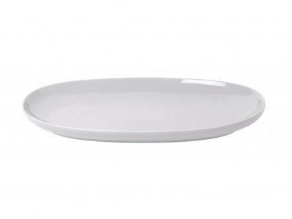 Servírovací oválny tanier RO Blomus stredný svetlošedý