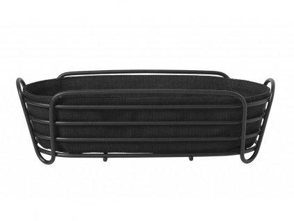 Košík na pečivo Delara Blomus oválny čierny