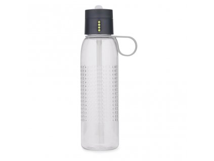 Športová fľaška s počítadlom plnenia Dot Active 81094 Joseph Joseph šedá 750 ml