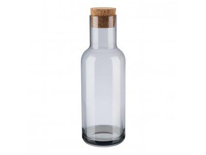 Karafa na vodu s korkovou zátkou FUUM dymové sklo Blomus