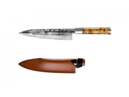 Kuchársky nôž Forged VG10 20,5 cm s koženým púzdrom