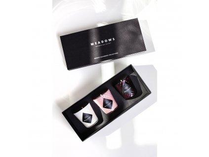 Darčeková kolekcia 3 vonných sviečok mini Mystic Cashmere Meadows