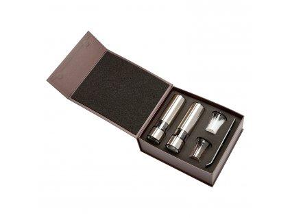 Darčeková súprava ELIS SENSE DUO, elektrický mlynček na soľ, korenie a stojanček Peugeot