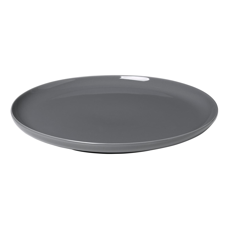 Plytký tanier na hlavné jedlo RO tmavosivý Blomus - Blomus Mělký talíř RO 27 cm, myší šedá