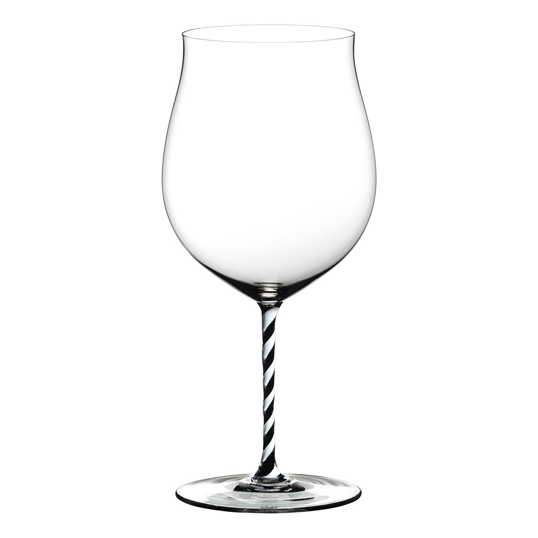 Pohár Burgundy Grand Cru Black and White Twisted Fatto a Mano Riedel