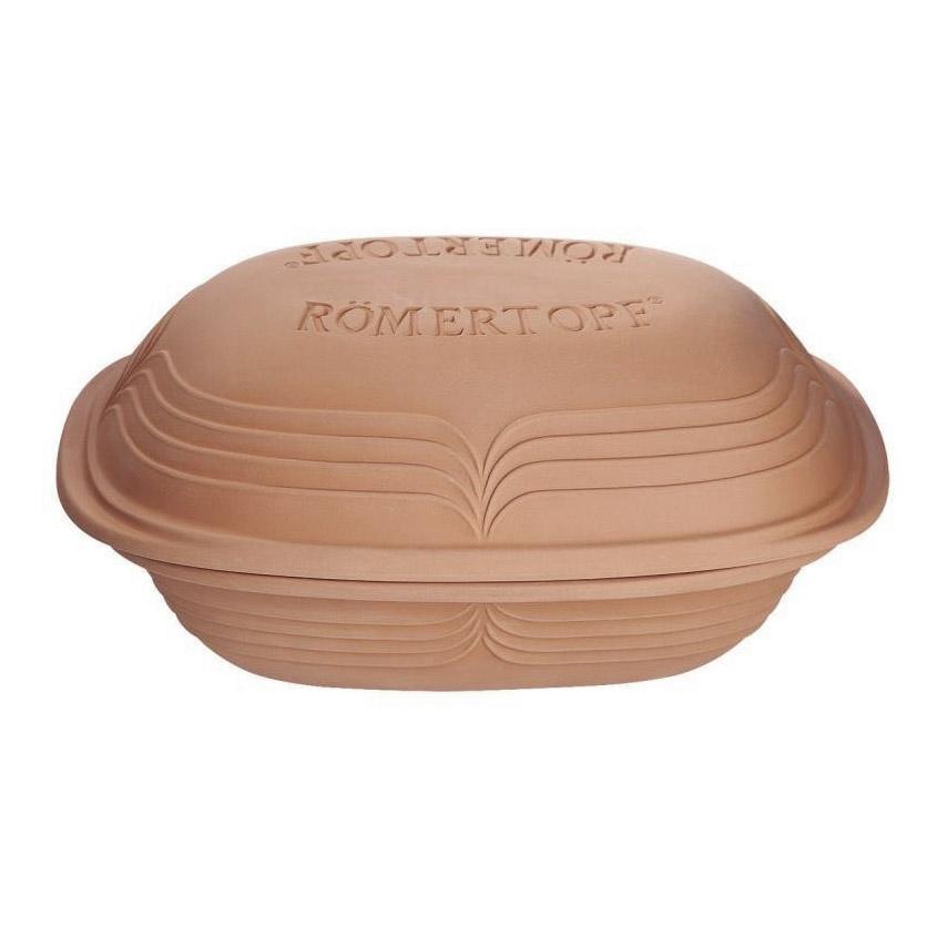 Rímsky hrniec s vekom veľký Modern Look prírodný® Römertopf