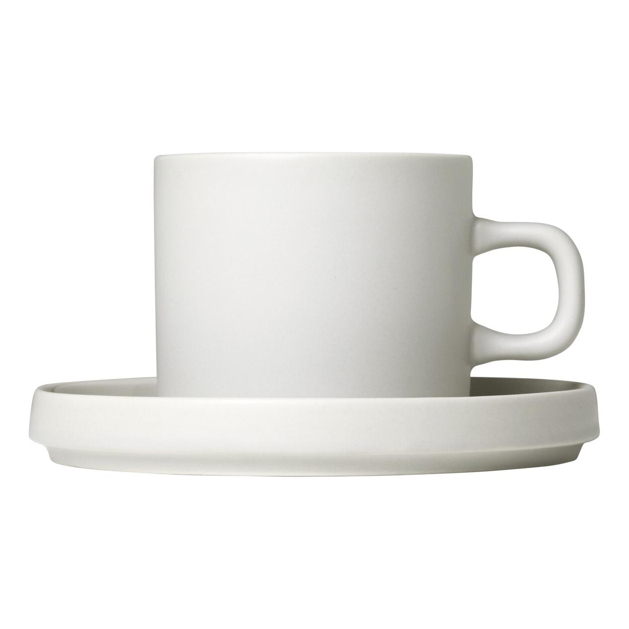 Súprava 2 hrnčekov na kávu s tanierikmi MIO krémová 0,2 l Blomus