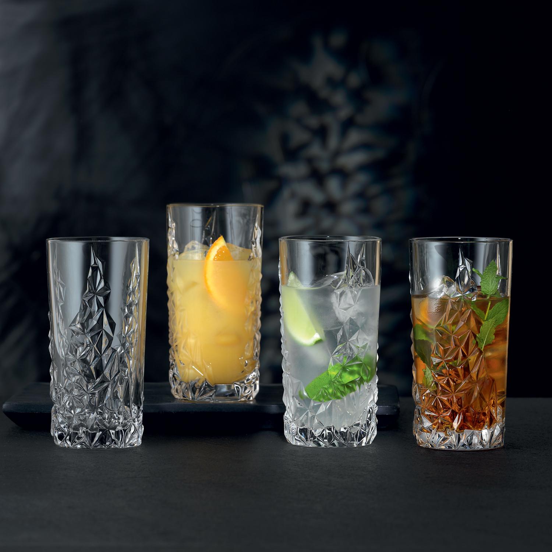 Súprava 4 pohárov na long drink Sculpture Nachtmann