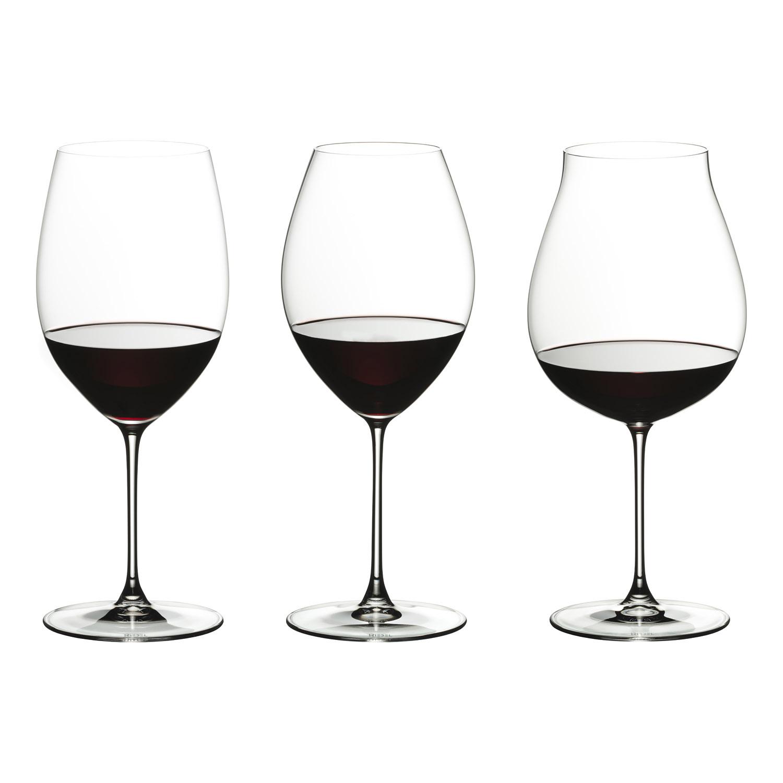 Tasting Set na červené víno Veritas - 3 rôzne poháre Riedel