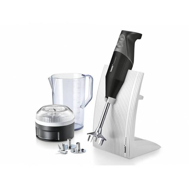 Tyčový mixér Bamix SwissLine M200 čierny + Multifunkčný krájač Bamix SliceSy