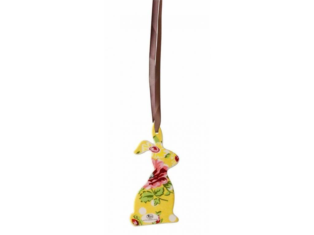 Ozdoba veľkonočný zajačik Springtime Flowers Sun Rosenthal 8,5x4,5 cm