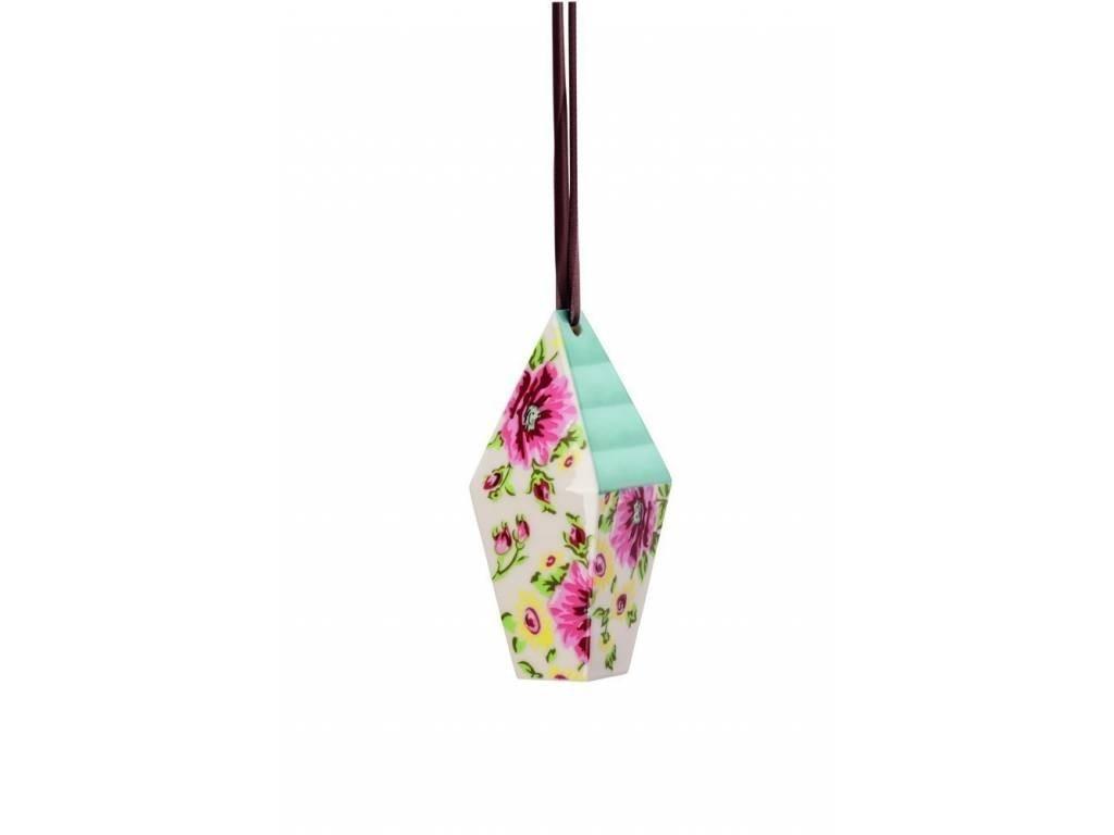 Závesná dekorácia domček Springtime Flowers Rosenthal 10,7x4,4 cm