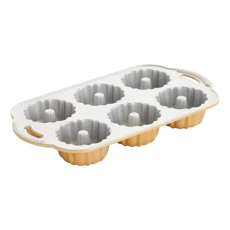 Forma na 6 bábovičiek Anniversary Bundlette Bundt® zlatá Nordic Ware
