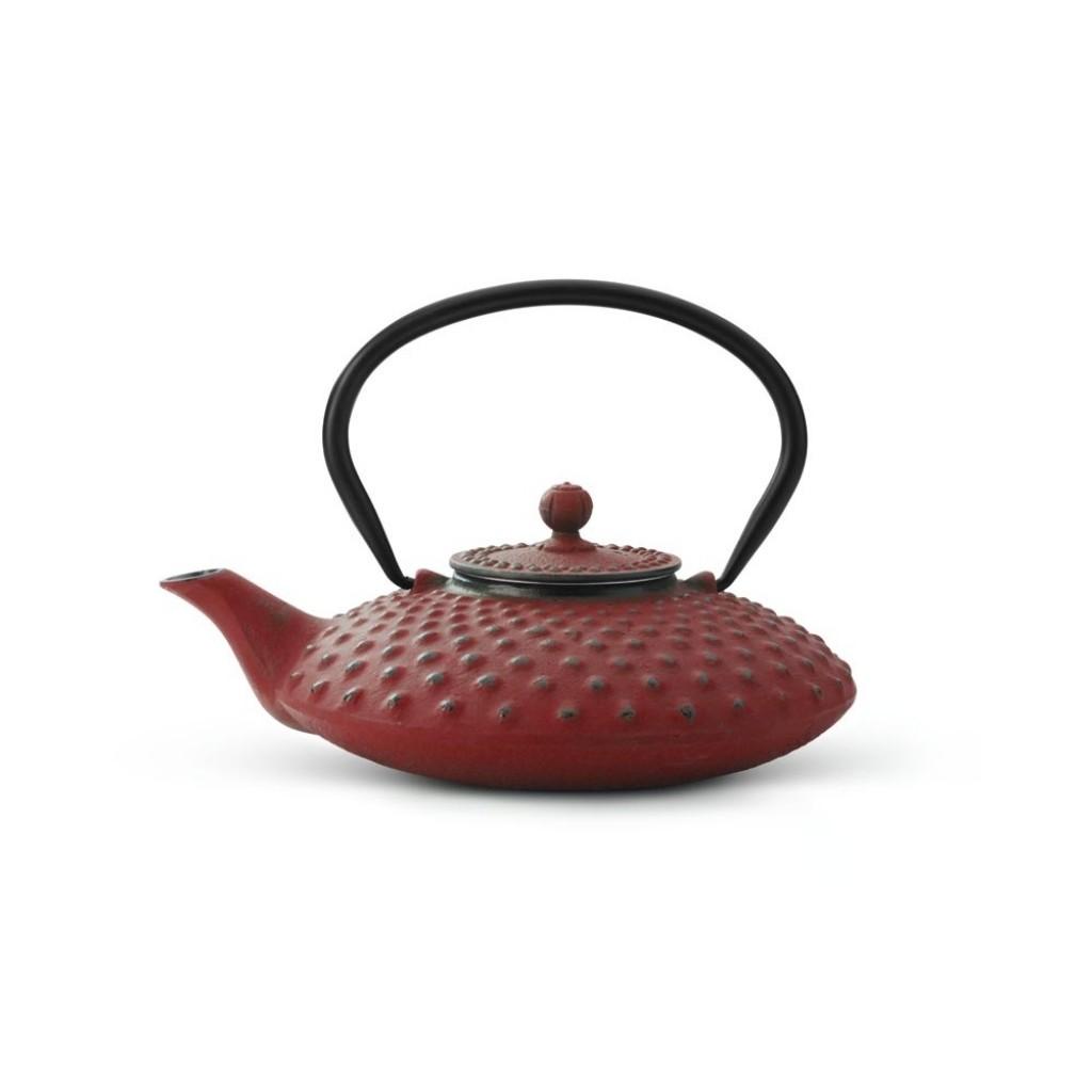 Liatinová kanvica na čaj Xilin Bredemeijer červená 800 ml