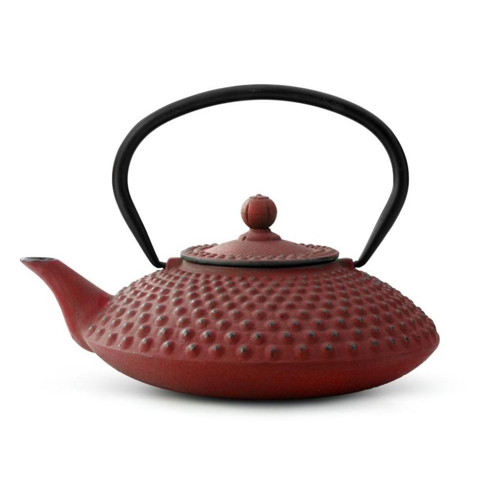 Liatinová kanvica na čaj Xilin Bredemeijer červená 1,2 l