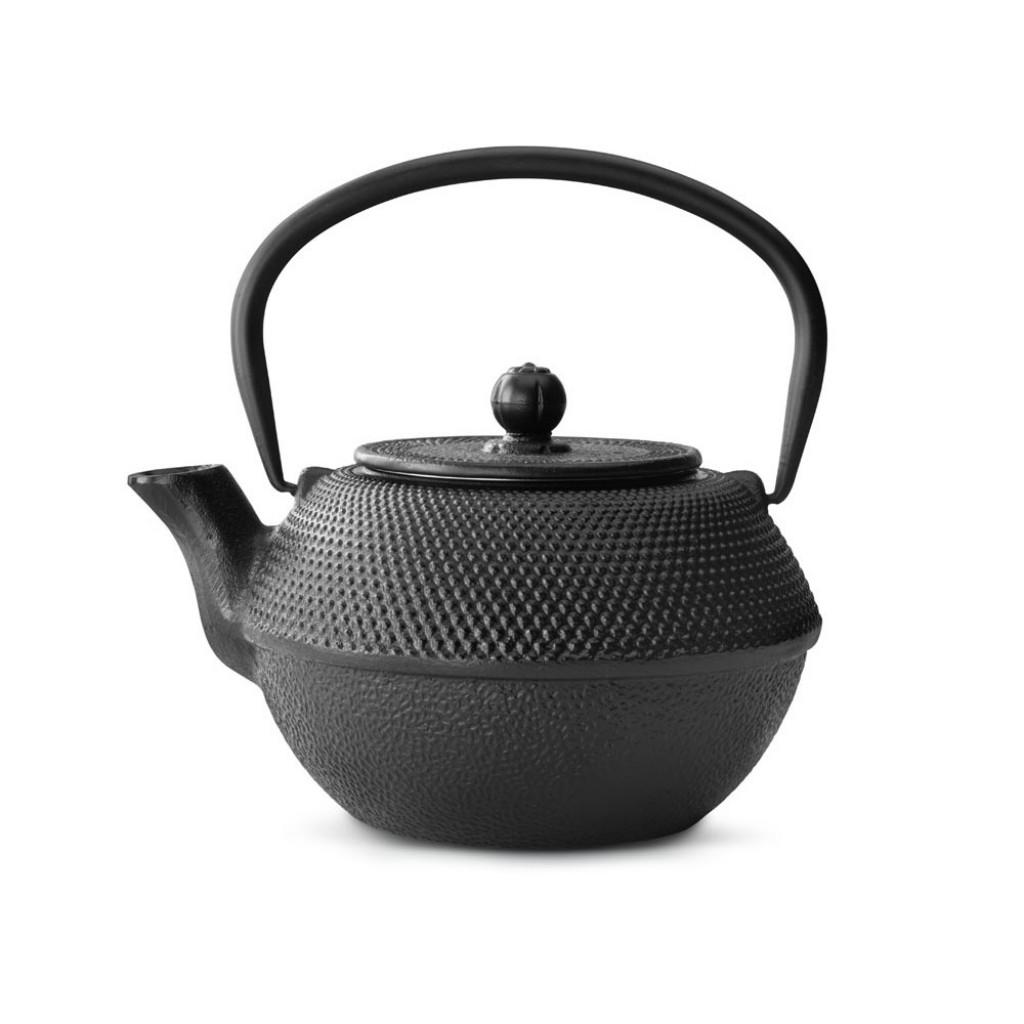 Liatinová kanvica na čaj Xilin Bredemeijer čierna 1,2 l