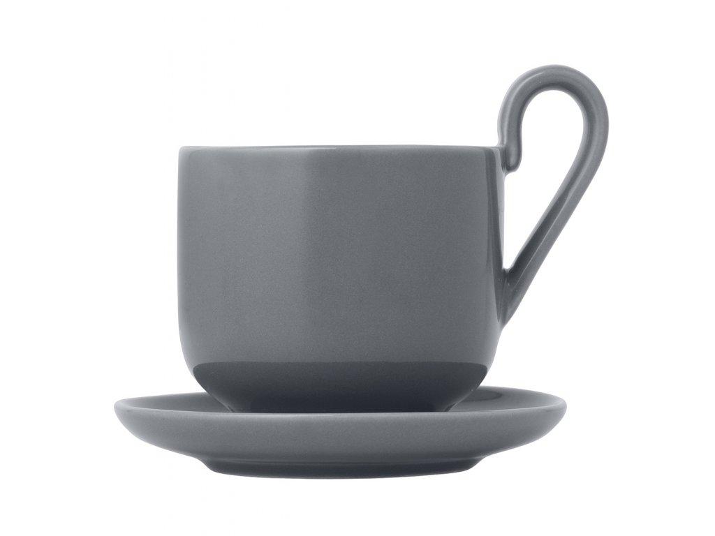Sada šálok na espresso s podšálkami Ro Blomus šedé 2 ks